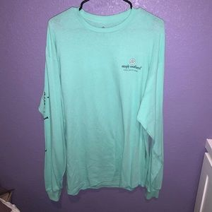 Teal Long-sleeve Simply Southern Shirt Size XL